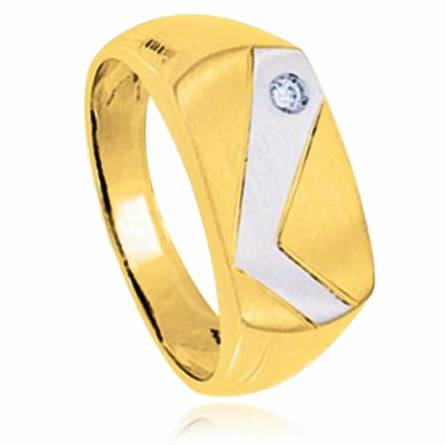 Man gold plated Aiden ring