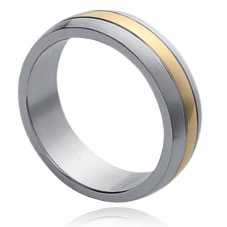 Man gold plated  fluide charisme ring