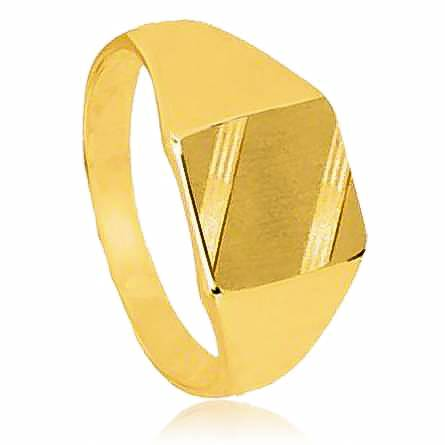 Man gold plated Francois yellow ring