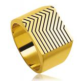 Man gold plated Gatsy one yellow ring