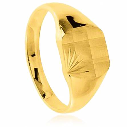 Man gold plated Hilaire yellow ring