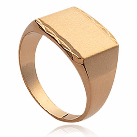Man gold plated Ioanina rectangles ring