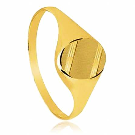 Man gold plated Ober yellow ring
