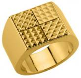 Man gold plated Quatra ring