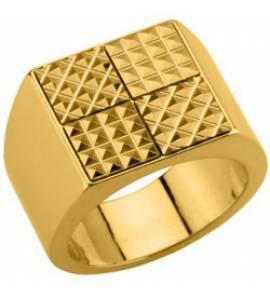 Man gold plated Quatra ring