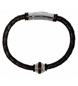 Man leather brown bracelet