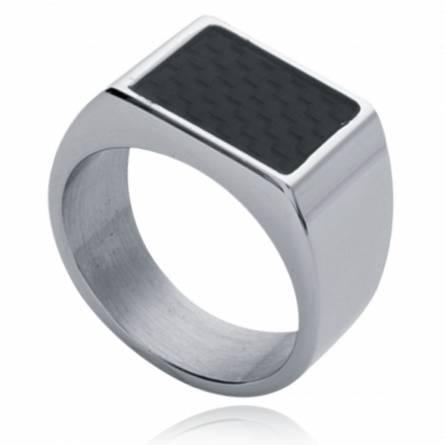 Man signet ring steel carbon