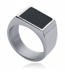 Man signet ring steel carbon