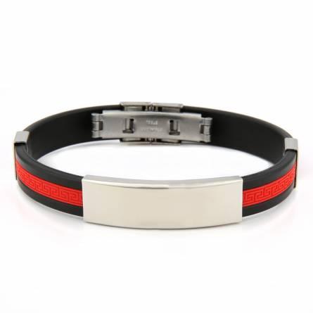 Man silicon Valentin  red bracelet