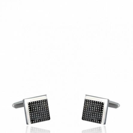 Man silver Agapios cufflinks