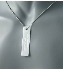 Man silver pendant