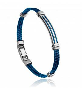 Man stainless steel Adam blue bracelet