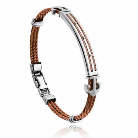 Man stainless steel Adam brown bracelet