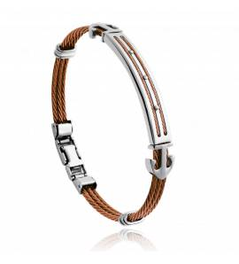 Man stainless steel Adam brown bracelet