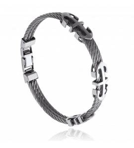 Man stainless steel Alex grey bracelet