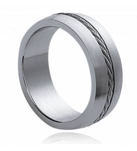 Man stainless steel Cables 1 ring