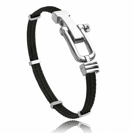 Man stainless steel Carmel black bracelet