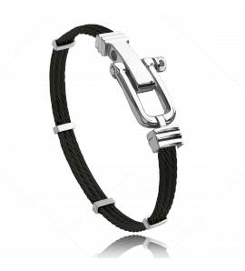 Man stainless steel Carmel black bracelet