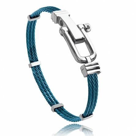 Man stainless steel Carmel blue bracelet
