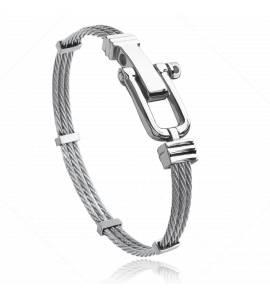 Man stainless steel Carmel grey bracelet