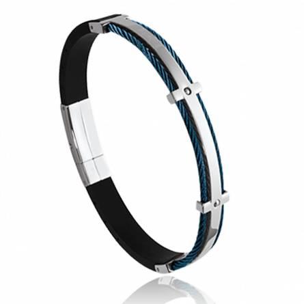 Man stainless steel Chochana blue bracelet