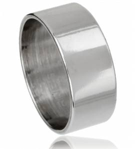 Man stainless steel Chrome grey ring