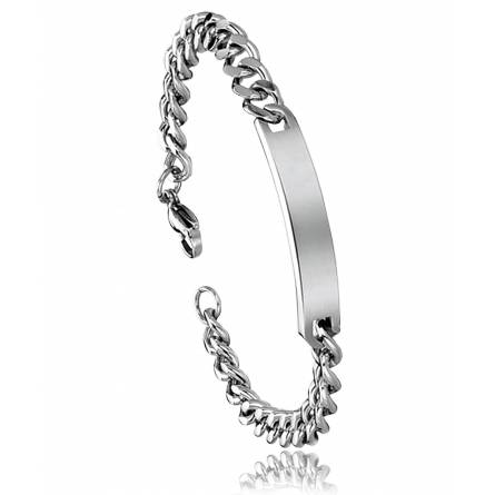 Man stainless steel curb bracelet