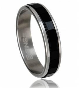 Man stainless steel Emirati black ring