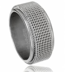 Man stainless steel Etoile constellée ring