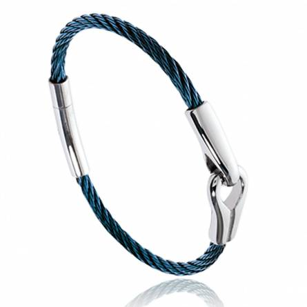 Man stainless steel Hayden blue bracelet