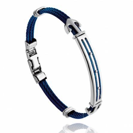 Man stainless steel Leandre blue bracelet