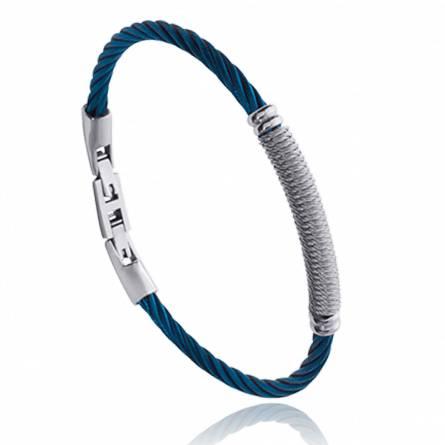 Man stainless steel Lenny blue bracelet