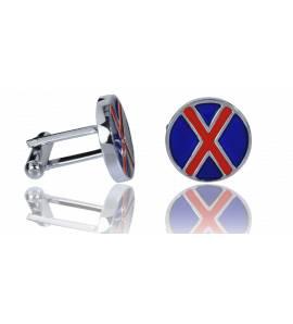 Man stainless steel  London blue cufflinks