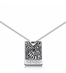 Man stainless steel Milita black necklace