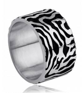 Man stainless steel Milita black ring