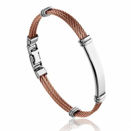 Man stainless steel Quanton bracelet