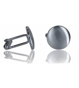 Man stainless steel Rotondo cufflinks