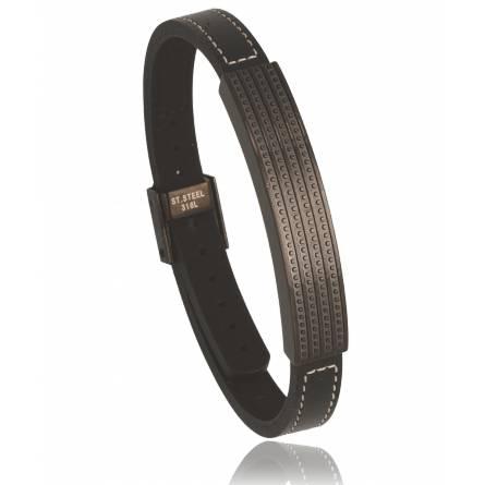 Man stainless steel Saturn black bracelet