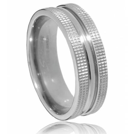 Man titanium  mouve ring