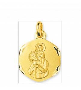 Medaillon en Or Saint Christophe protecteur