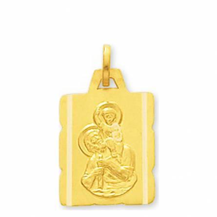 Medaillon Or Saint Christophe parchemin