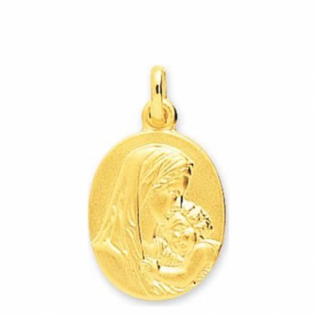 Medaillon Or Vierge Marie et son enfant Jésus