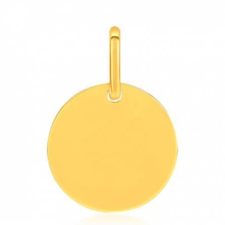 Medaillon plaqué or à graver 1.2cm