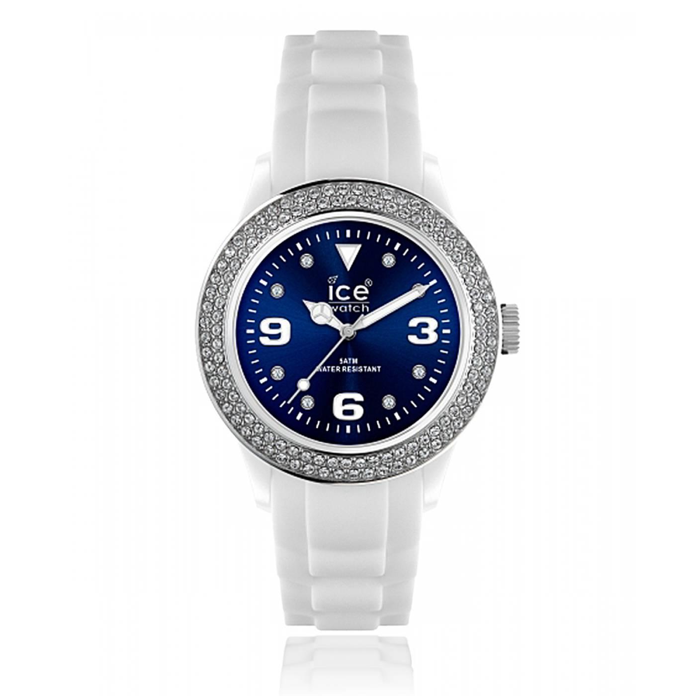 montre femme ice blue silicone bleu ice watch. Black Bedroom Furniture Sets. Home Design Ideas