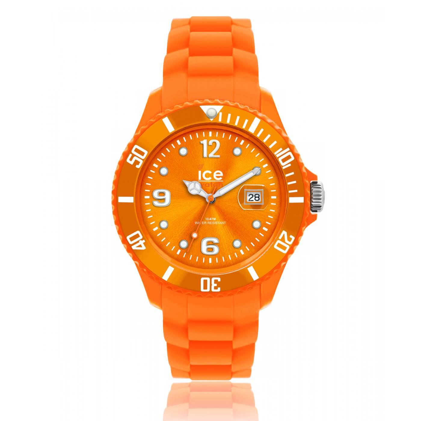 montre homme femme ice forever silicone orange ice watch. Black Bedroom Furniture Sets. Home Design Ideas