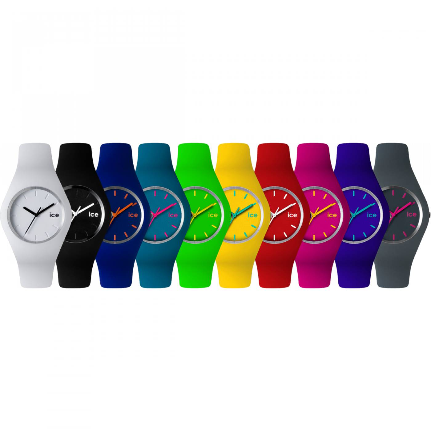montre homme femme ice silicone gris ice watch. Black Bedroom Furniture Sets. Home Design Ideas