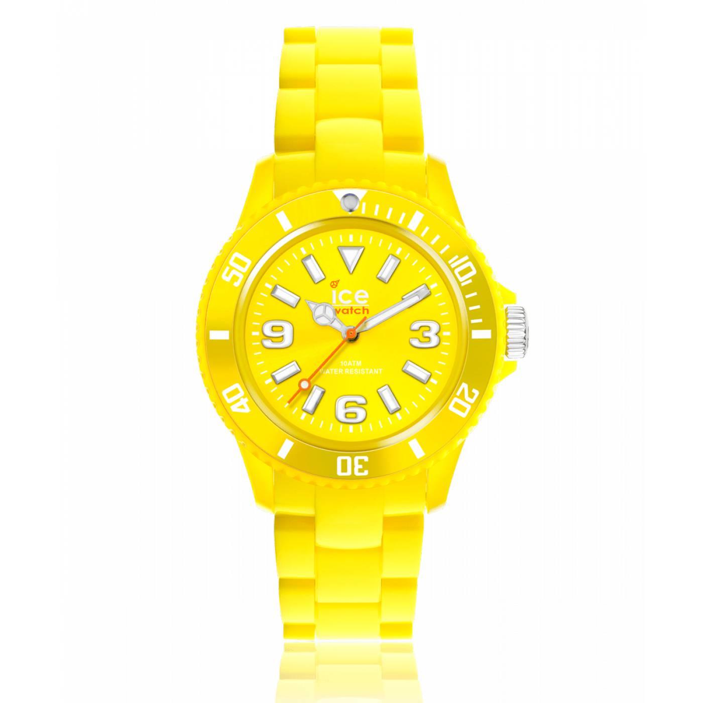 montre homme femme ice solide plastique jaune ice watch. Black Bedroom Furniture Sets. Home Design Ideas