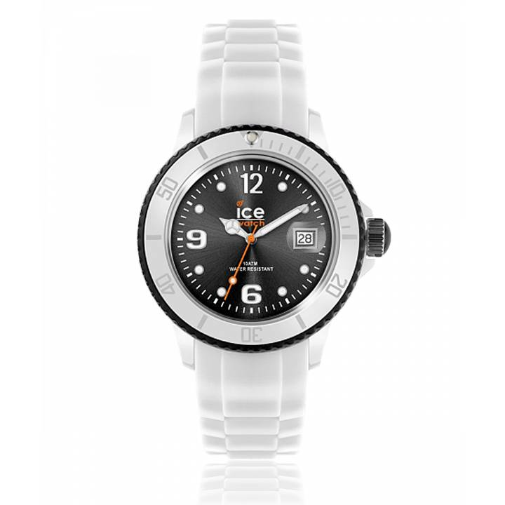 fafe87c7b9f261 Montre Homme   Femme ICE WHITE Silicone Blanc   Noir - Ice Watch