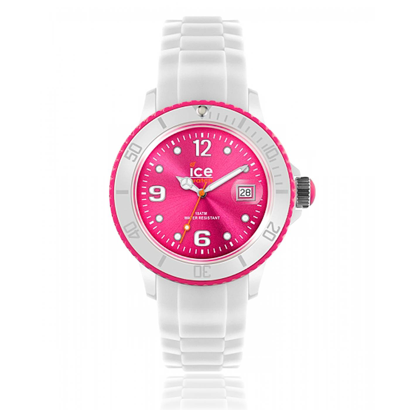 montre femme ice white silicone rose blanc ice watch. Black Bedroom Furniture Sets. Home Design Ideas