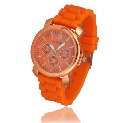 Montre silicone orange speed